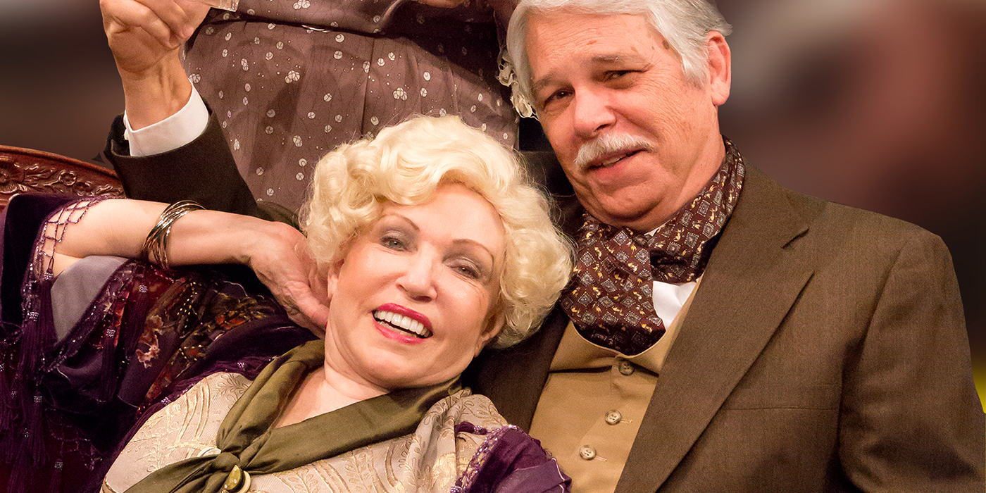 """JoAnne Dickinson and Danny Norris as Judith and David Bliss in """"Hay Fever"""""""