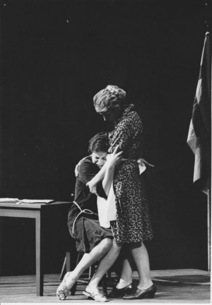 "Photo from first production of ""Antigone,"" 1964."