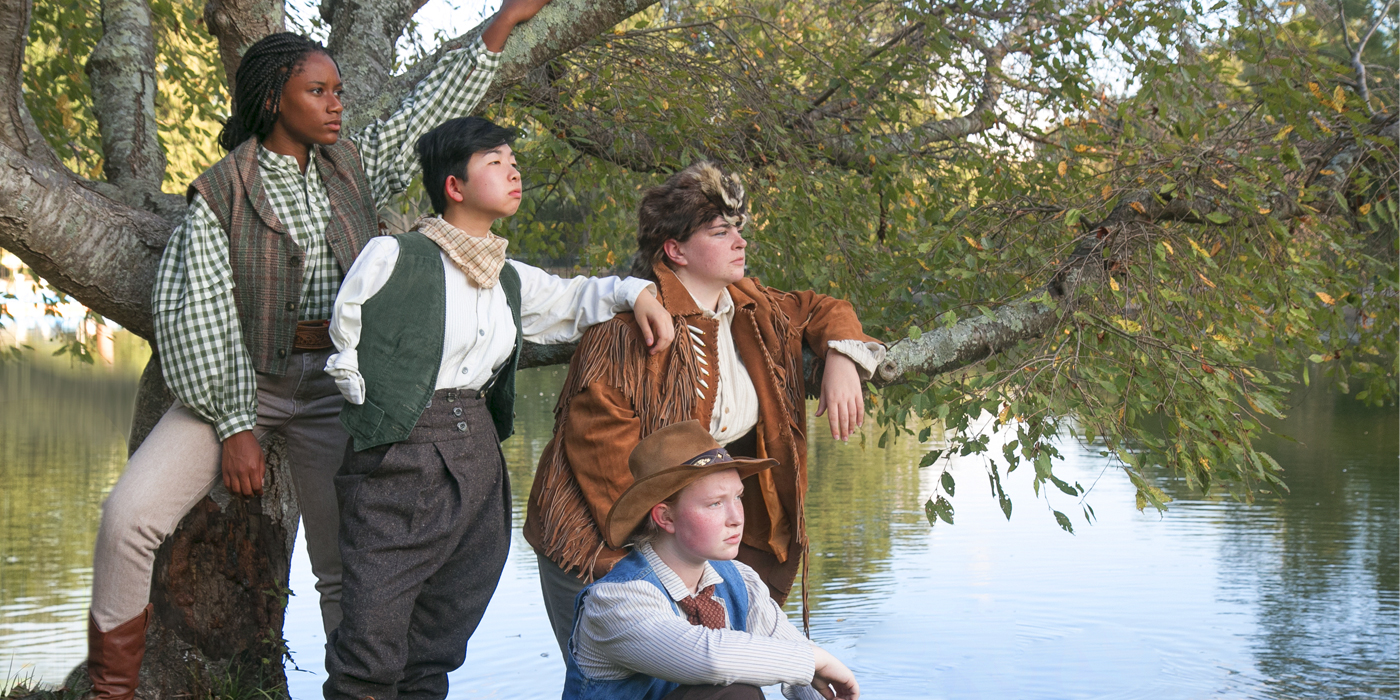 Men on Boats publicity shot featuring Aysia Slade, Rosie You, Mikayla Welker and Nicole Hiemenz.